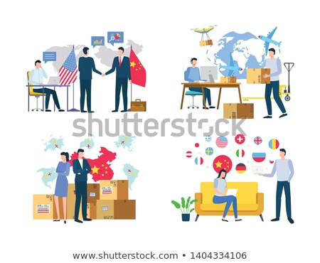 Business with China International Meeting Vector Stock photo © robuart