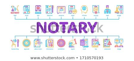 Notaris dienst agentschap banner Stockfoto © pikepicture