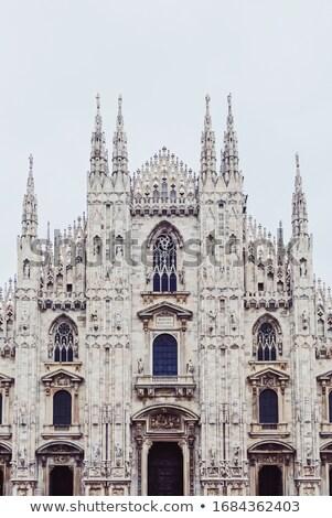 Milaan kathedraal historisch gebouw beroemd Stockfoto © Anneleven