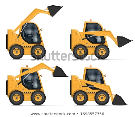 Realistic skid steer loader vector illustration Stock photo © YuriSchmidt