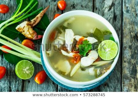 Yum традиционный тайский морепродуктов куриные грибы Сток-фото © karandaev