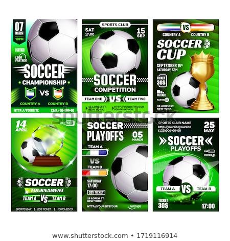サッカー スポーツ イベント チラシ 宣伝広告 ポスター ストックフォト © pikepicture