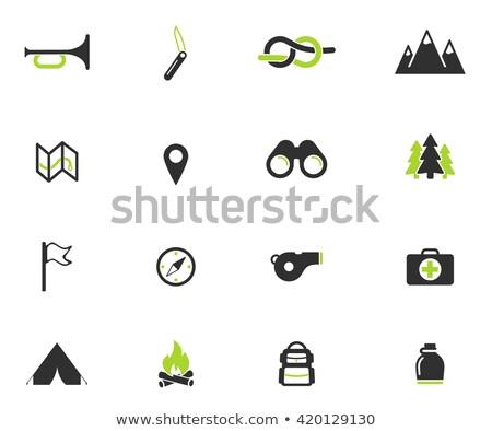 Erkek izci sadece simgeler semboller web simgeleri Stok fotoğraf © ayaxmr