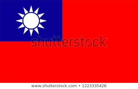 Taiwan bandeira branco projeto cor país Foto stock © butenkow