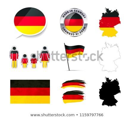 セット ドイツ インフォグラフィック 要素 フラグ ストックフォト © evgeny89
