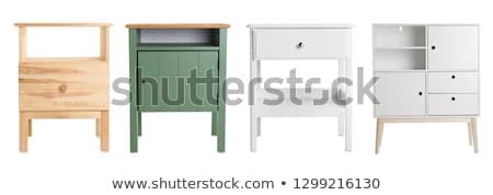 Kabinet meubels witte interieur slaapkamer moderne Stockfoto © yupiramos