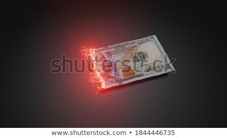 Dikkat yanan görüntü yarım kâğıt Stok fotoğraf © albund