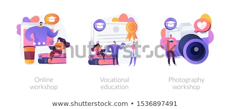 Photography course vector concept metaphor. Stock photo © RAStudio