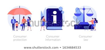 Fogyasztó védelem absztrakt szolgáltatás vásárlók jogok Stock fotó © RAStudio