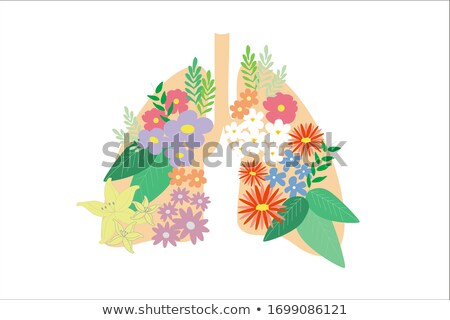 Lungs in flowers. Concept for coronavirus pandemic, tabaco and a Stock photo © trendsetterimages