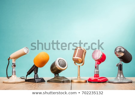 Stock photo: Interview With Microphone