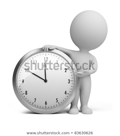 Stock photo: 3d Small People - Clock
