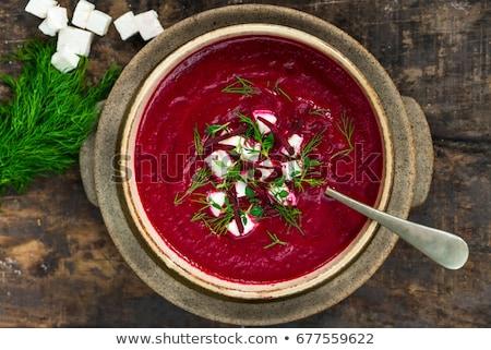 Leves fotó finom zöldségek fa asztal forró Stock fotó © Francesco83