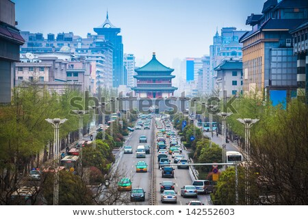 Downtown of Xian China Stock photo © bbbar