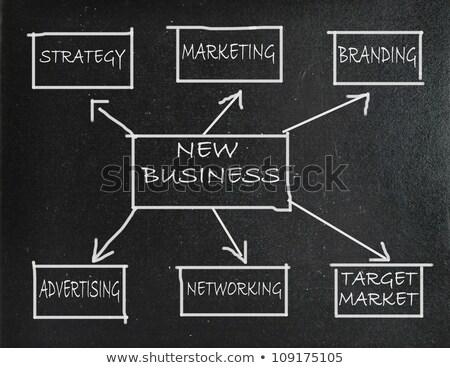 Photo stock: Tableau · nouvelle · affaires · diagramme · sombre · illustration