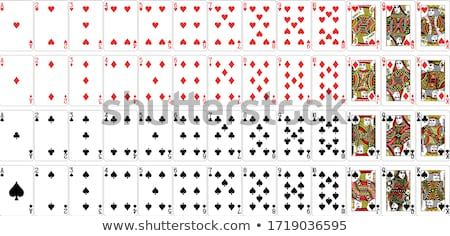 plein · maison · cartes · à · jouer · visage · vert - photo stock © damonshuck