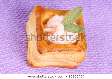 Vol-au-vent with shrimps and sage Stock photo © aladin66