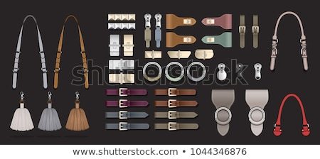 Black leather belt with steel buckle Stock photo © RuslanOmega