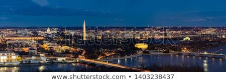 Washington Monument Panorama Washington Dc Stok fotoğraf © vichie81