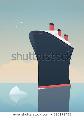 vitorlázik · hajó · tenger · óceán · hullámok · égbolt - stock fotó © njaj