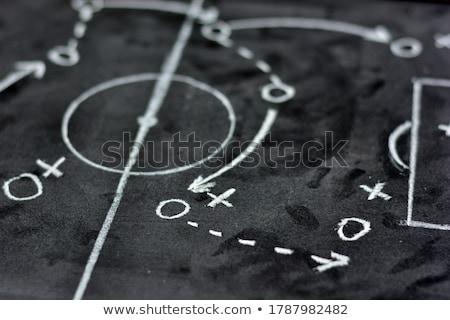 lección · fútbol · táctica · patrones · tiza - foto stock © leeser