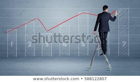 Gráfico de negocio escalera fondo financiar mercado color Foto stock © 4designersart