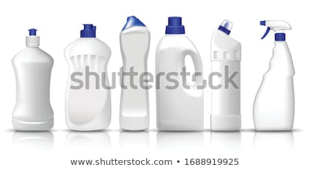 Stock photo: plastic detergent bottles
