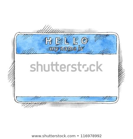 Aqua Blue Nametag Stock photo © mybaitshop