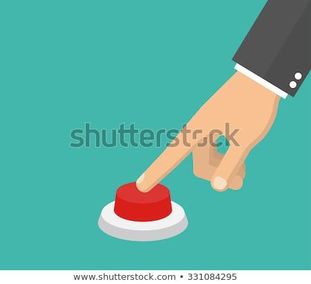 手 赤 ボタン 背景 通信 ストックフォト © Archipoch