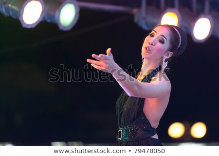 tailandés · cantante · realizar · etapa · danza · belleza - foto stock © smithore