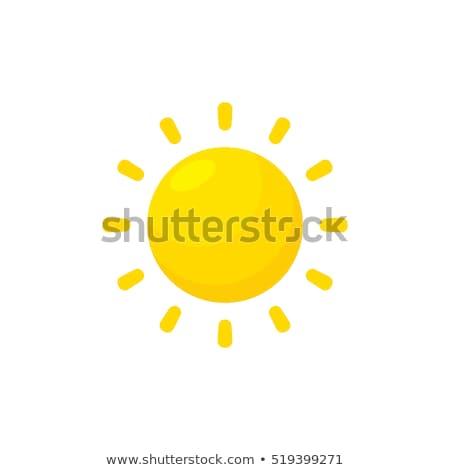 Cartoon sole isolato bianco fuoco Foto d'archivio © adamson