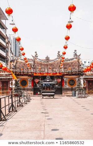 Kínai új év dekoráció dísz piros pénz tavasz Stock fotó © azamshah72
