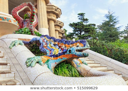 Mosaic sculpture in the Park Guell, Barcelona Stock photo © photocreo