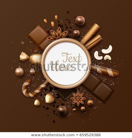 hazelnoten · chocolade · bruin · hout · voedsel · achtergrond - stockfoto © elly_l