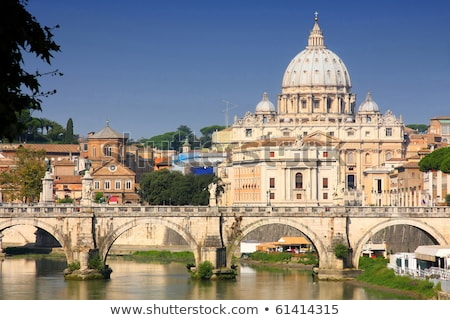 vatican city from ponte umberto i in rome italy stock photo © vladacanon