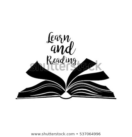 開いた本 電子 図書 読者 レンガの壁 紙 ストックフォト © AndreyKr
