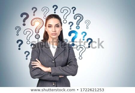 portret · twijfelachtig · zakenvrouw · witte · business · hand - stockfoto © photography33
