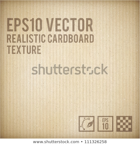 corrugated paper background. brown cardboard Stock photo © REDPIXEL