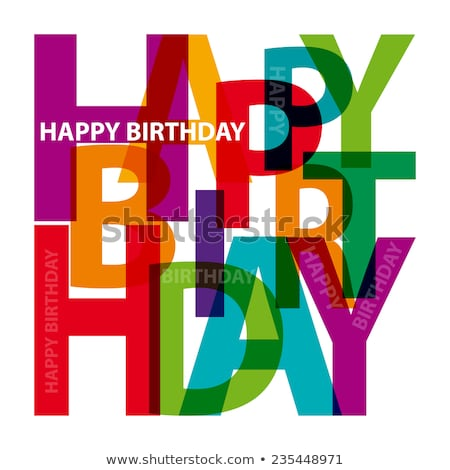 abstract colorful birthday words stock photo © pathakdesigner