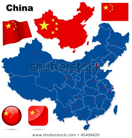 Vector mapa pueblos república China Foto stock © experimental