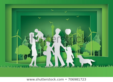 paper cut family stock photo © oly5