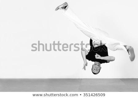 Jonge danser man springen opleiding hal Stockfoto © pekour