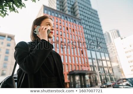 美しい 若い女の子 ビジネス ジャケット 白 少女 ストックフォト © utorro