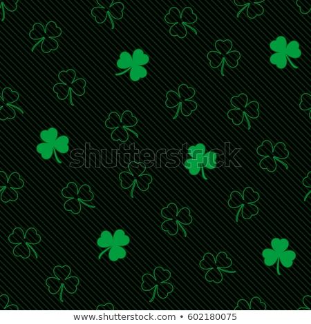 зеленый четыре фон клевера успех завода Сток-фото © gant