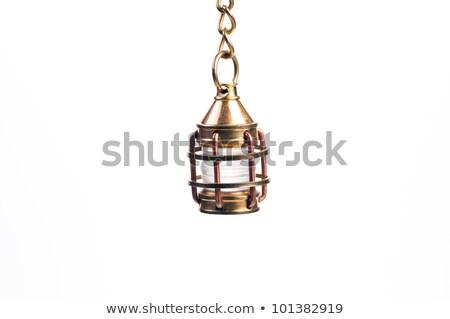 латунь мини фонарь свет дизайна Сток-фото © calvste