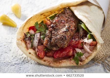 kebab sandwich stock photo © m-studio