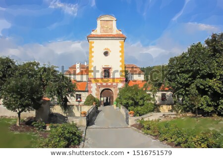 Entrance to the Chateau Kratochvile. (Czech Republic) Stock photo © frank11