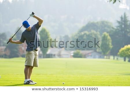 golfer · golfclubs · glimlachend · man · landschap - stockfoto © photography33