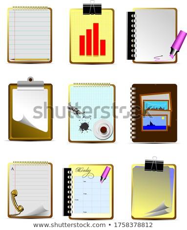 Vecteur neuf bureau affaires icônes aider Photo stock © leonido