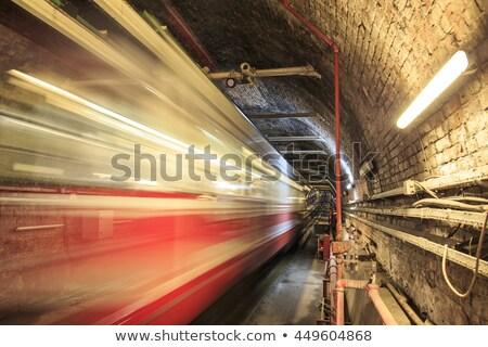 Vonat alagút szuper áramvonalas bemozdulás sebesség Stock fotó © ssuaphoto